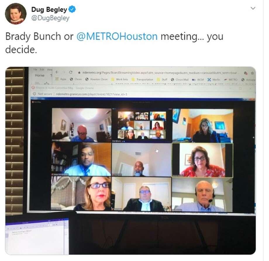Houston Chronicle reporter @dugbegley on Twitter: Brady Bunch or  @METROHouston  meeting... you decide. Photo: Twitter