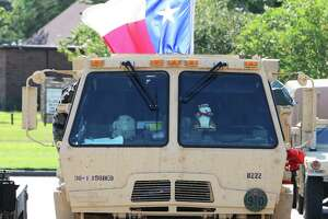 This military vehicle, a part of the Texas National Guard 636th Brigade Support Battalion fleet, was clearly Texan flying the Lone Star in the back but in plain view during Hurricane Harvey recovery in Dayton in 2017.