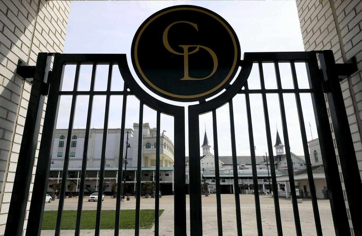 Churchill Downs sits mostly empty following the announcement that the 146th Kentucky Derby will be postponed until September 5th due to the Coronavirus on March 17, 2020 in Louisville, Kentucky. Because of the concern of (COVID-19) It is the first time since 1945 that the Kentucky Derby has not been held on the first Saturday in May. (Photo by Andy Lyons/Getty Images)