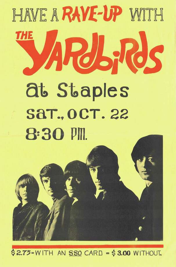 A poster for the Yardbirds concert at Staples High School. Photo: Fred Cantor / Contributed Graphic