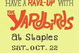 A poster for the Yardbirds concert at Staples High School.