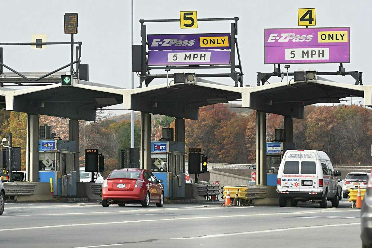 The Thruway Authority announced last week that it would no longer be accepting cash tolls. Instead, drivers will be billed by mail. (Lori Van Buren / Times Union)