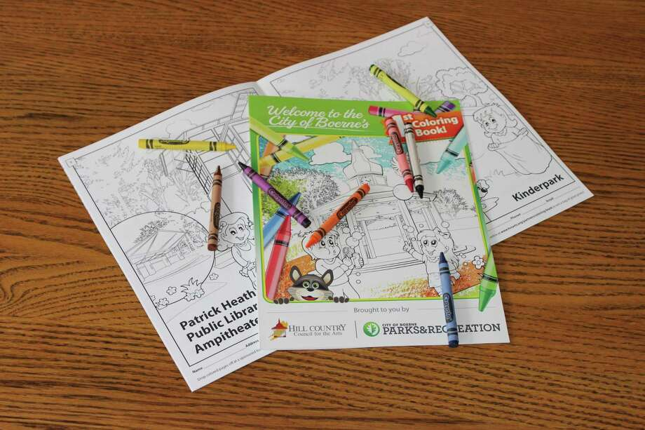 """""""The City of Boerne's 1st Coloring Book"""" was going to be distributed during the Outdoor Family Fair in Main Plaza. When that event was canceled, officials decided to release it free online and at Boerne area H-E-B, Wal-Mart and Walgreens stores. Photo: Boerne Parks And Recreation Department And Hill Country Council For The Arts"""