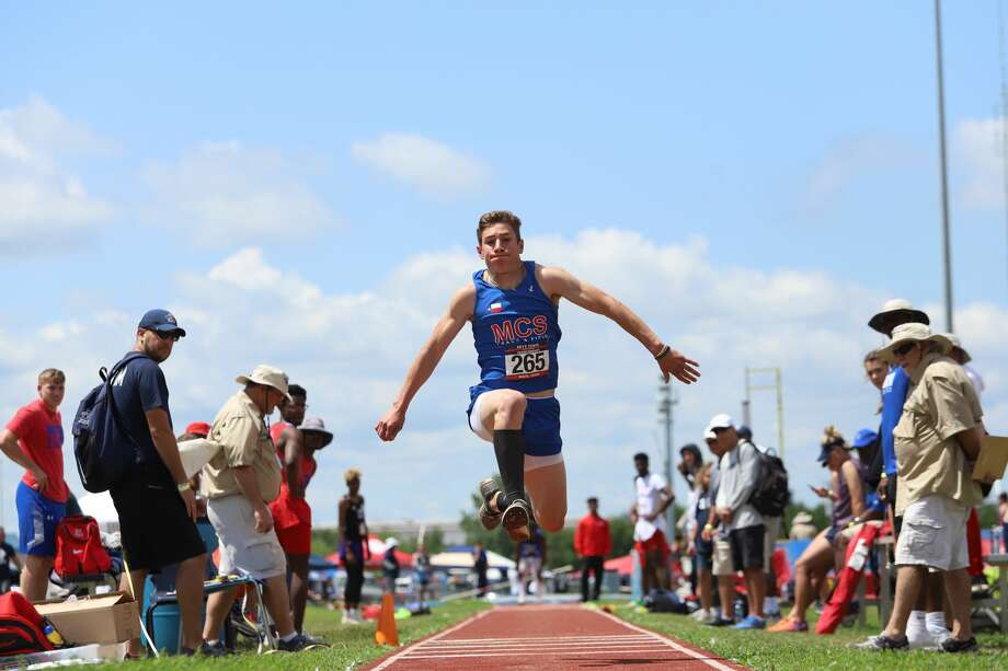 Midland Christian's Garison Breeding makes an attempt in the triple jump during the 2019 TAPPS 6A State Championships in Waco. Photo: Courtesy Photo
