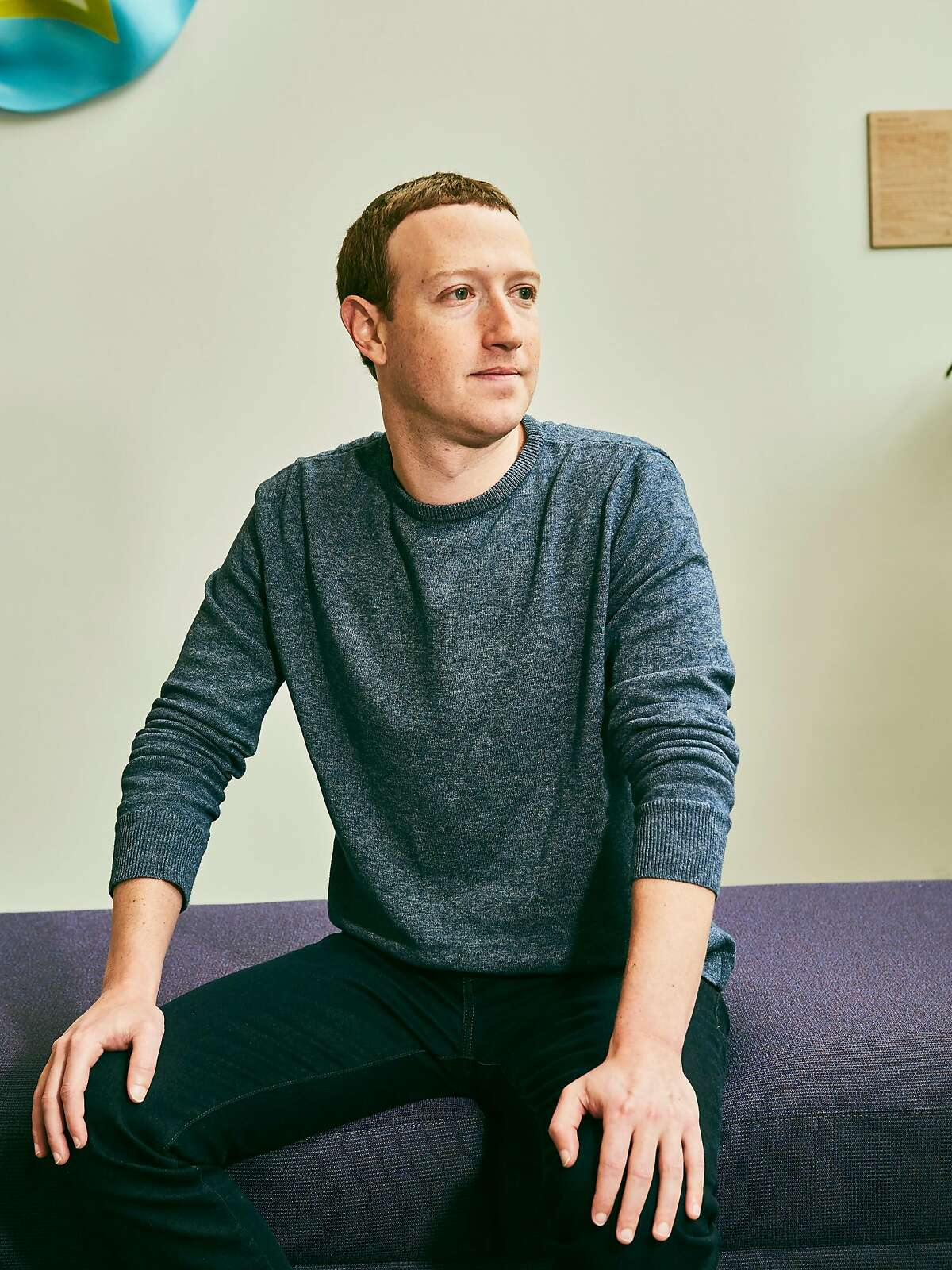 FILE -- Mark Zuckerberg, the founder of Facebook, in Palo Alto, Calif., April 11, 2019. The social network is straining to deal with skyrocketing usage as its 45,000 employees work from home for the first time as the coronavirus spread around the world. (Jessica Chou/The New York Times)