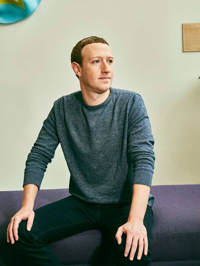 Facebook CEO Mark Zuckerberg says the company is trying to keep up with expanded use of its social network during the coronavirus pandemic. Photo: Jessica Chou / New York Times 2019