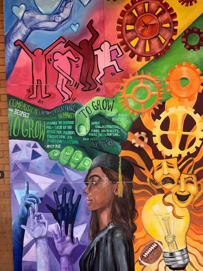 Shelton High School junior Melaina Roberto's artistic interpretation of the school district's Vision of a Graduate. She completed this art work as part of her Capstone project. Photo: Contributed Image / Connecticut Post