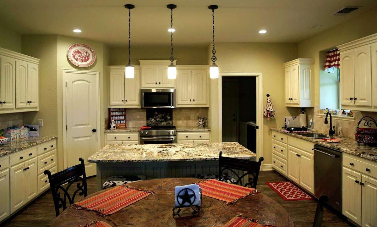 The kitchen with granite countertops has plenty of cabinets, said Caril Anderson.