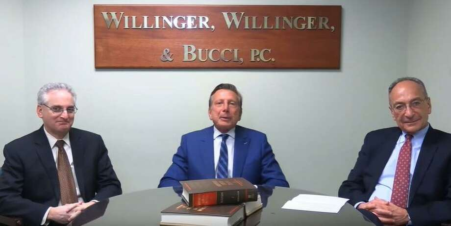 Willinger, Willinger & Bucci is expanding its law firm into Shelton. Pictured are partners, left to right, Bradd Robbins, Charles Willinger and Tom Bucci. Photo: Contributed Photo / Connecticut Post