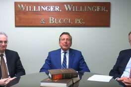 Willinger, Willinger & Bucci is expanding its law firm into Shelton. Pictured are partners, left to right, Bradd Robbins, Charles Willinger and Tom Bucci.