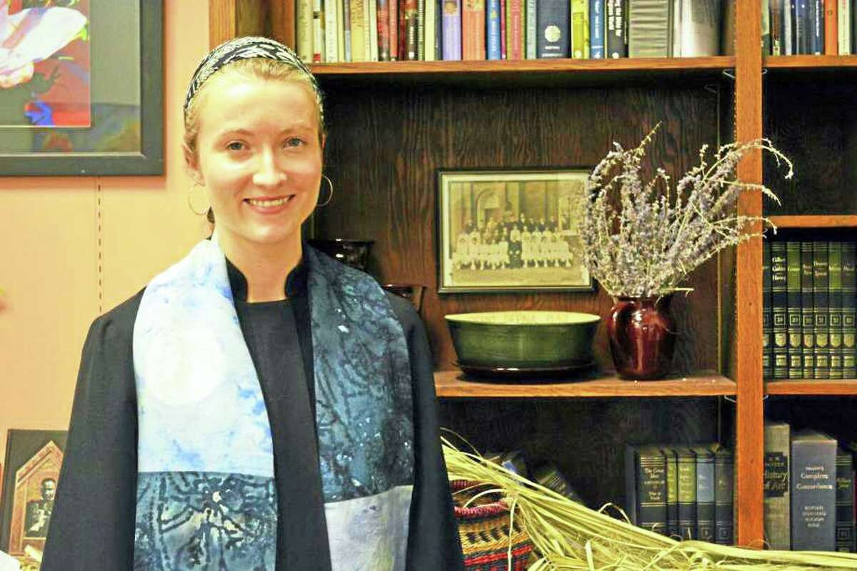 The Rev. Julia Burkey of First Church in Middletown is shown in 2017.