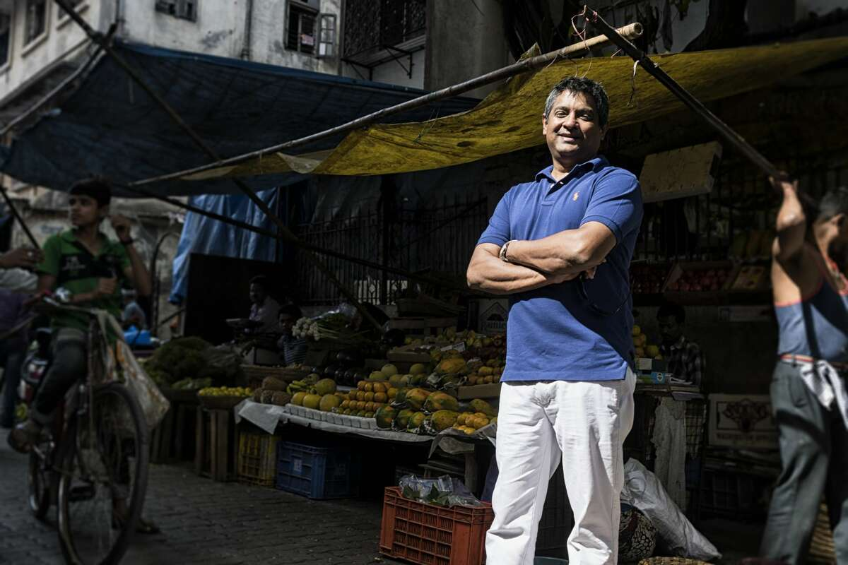 Indian chef Floyd Cardoz poses for a profile shoot on December 11, 2015 in Mumbai, India.