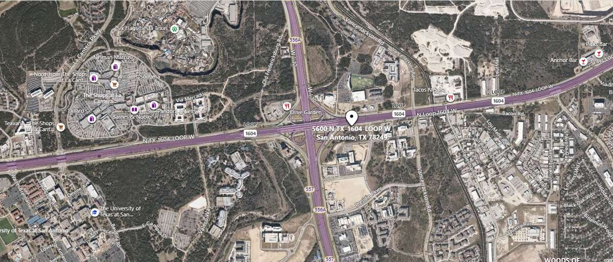 A motorcyclist is hospitalized with life-threatening injuries after hitting a drainage ditch while trying to pass traffic on the Northwest side Wednesday morning. The map shows the approximate location of the accident.