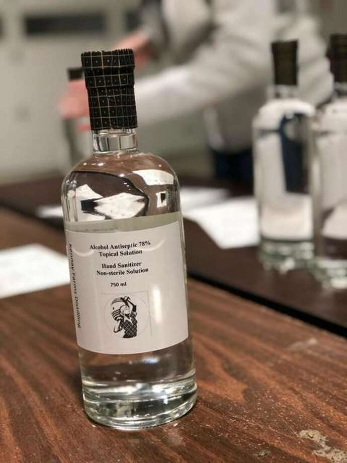 Kennay Farms Distilling in Rochelle is now producing hand sanitizer instead of bourbon. Photo: Courtesy Of Kennay Farms Distilling