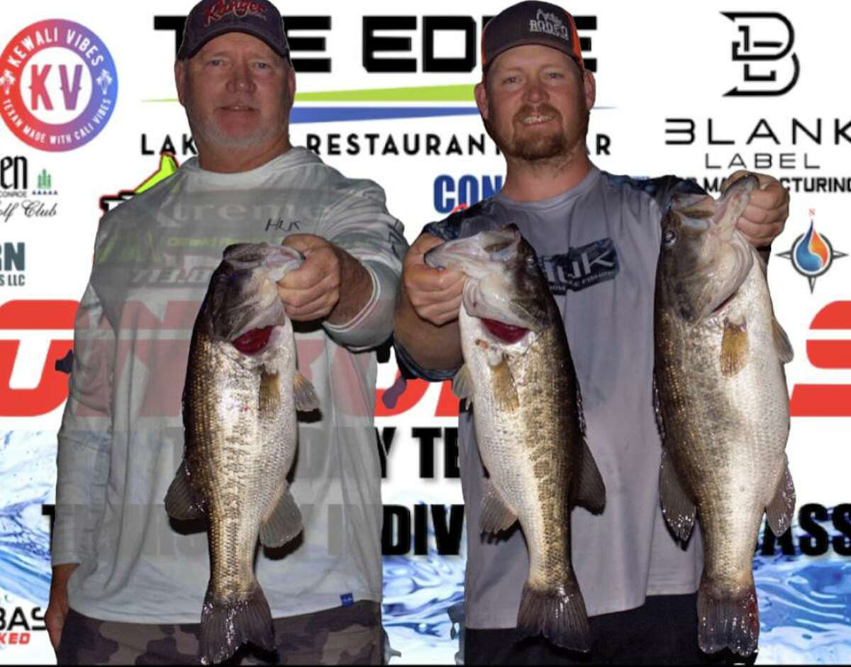 Tim and Evan Carlson came in second place in the CONROEBASS Tuesday tournament with a stringer weight of 17.41 pounds.