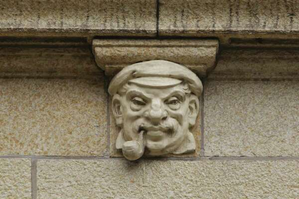 """Those are just sort of moments of whimsy and fancy,"" architectural historian Vince Michael says of the gargoyles and other macabre characters decorating some of downtown's buildings, including the former Nix Medical Center building."