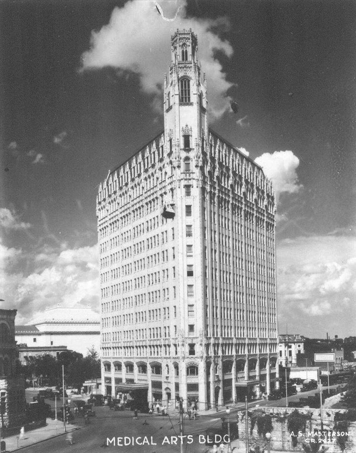 The Medical Arts Building, now the Emily Morgan Hotel, is shown in this c. 1928 photo.
