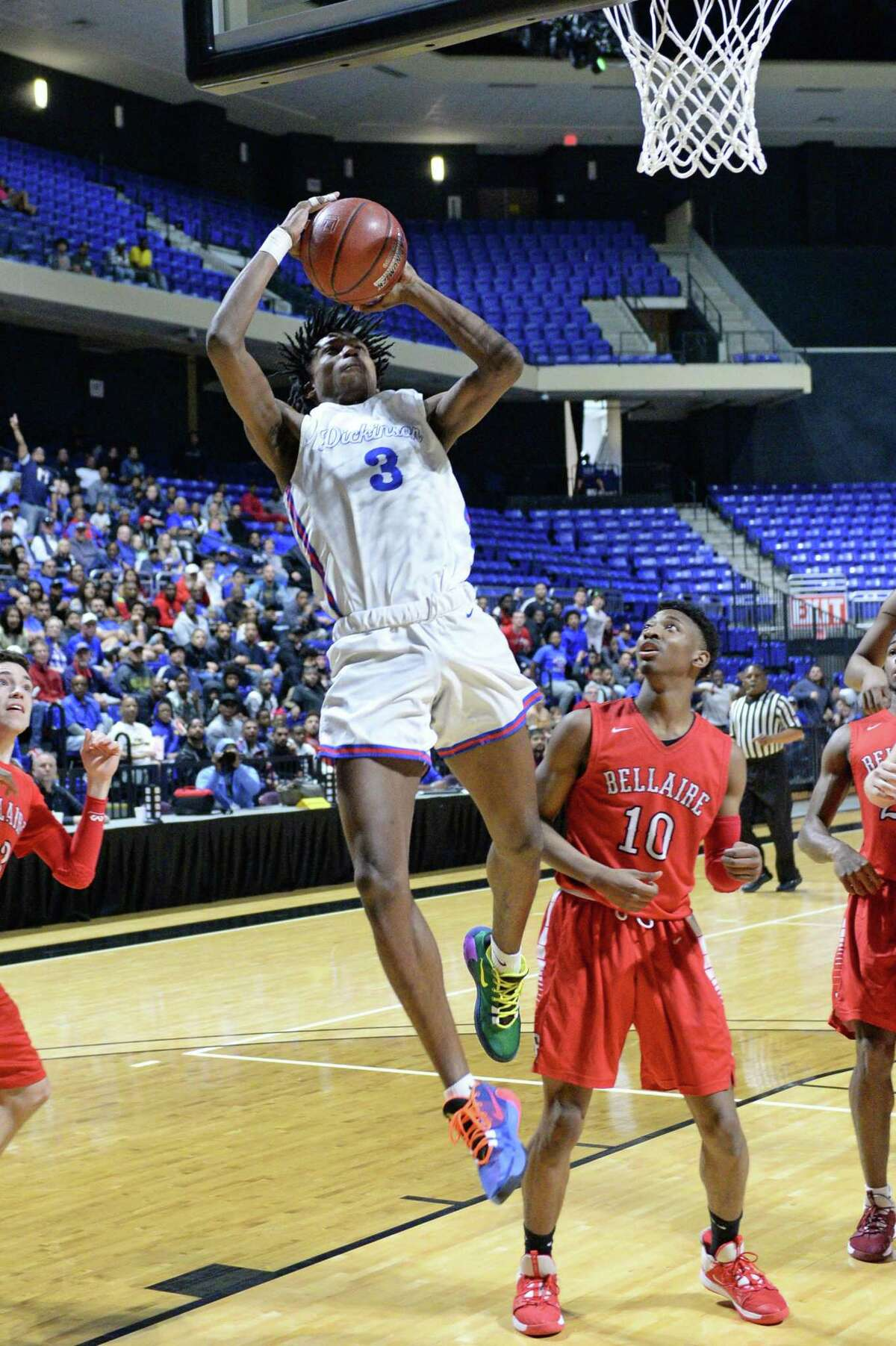 Tramon Mark (3) of Dickinson has been selected co-most valuable player of District 24-6A.