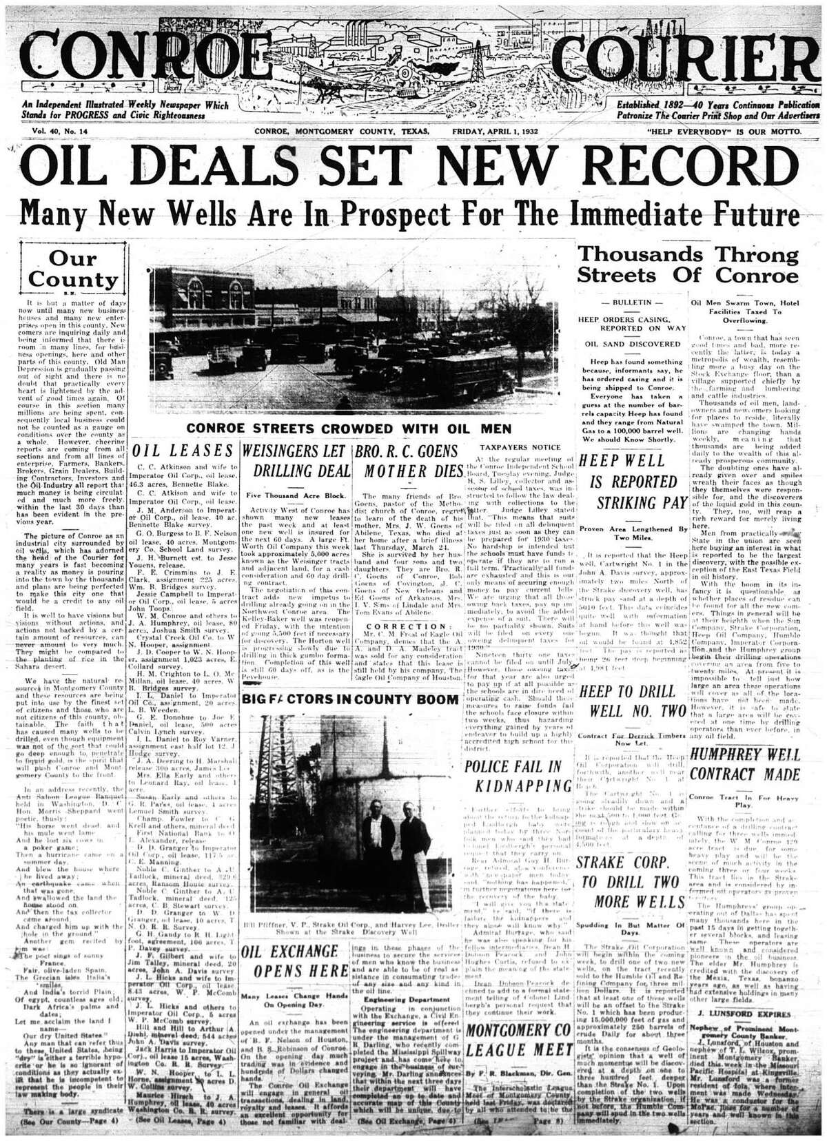 The Courier from April 1, 1932
