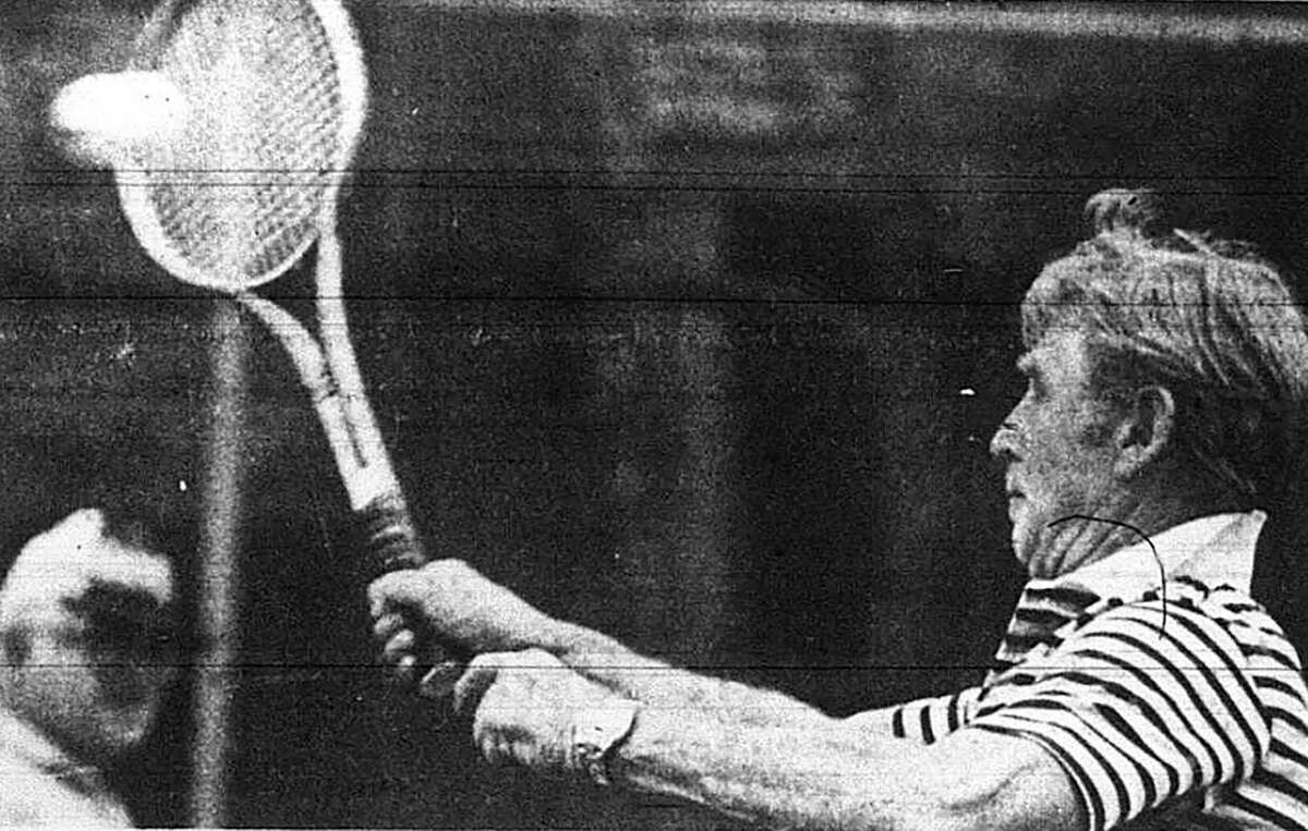 Actor Lloyd Bridges played in the Jack Benny Memorial Tennis Classic held locally in April 1979. The event raised money for the Juvenile Diabetes Foundation. This pictured was printed in The Courier on April 1, 1979.