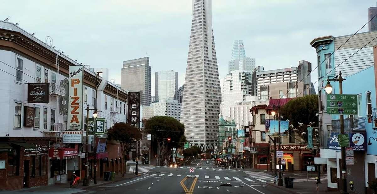 "Stills from short film ""San Francisco Shut Down: COVID-19 Quarantine"" created by Dan Denegre of Space Race Studio"