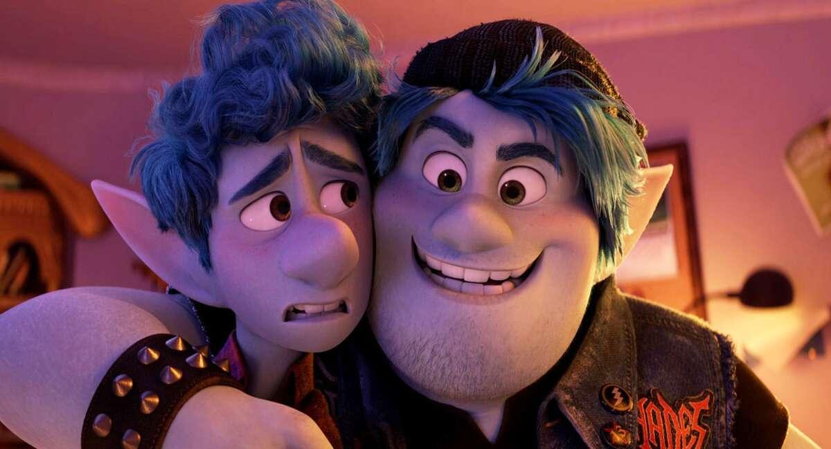 Chris Pratt and Tom Holland on their brotherly bond in 'Onward.' (Pixar/TNS)