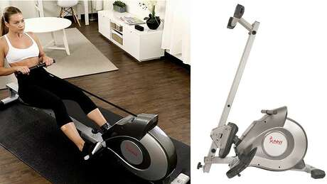Sunny Health & Fitness SF-RW5515 Magnetic Rowing Machine Rower, $267.99 (Normally $399.99) Photo: Amazon