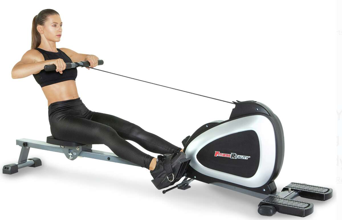 FITNESS REALITY 1000 PLUS Bluetooth Magnetic Rowing Machine Rower, $299.99