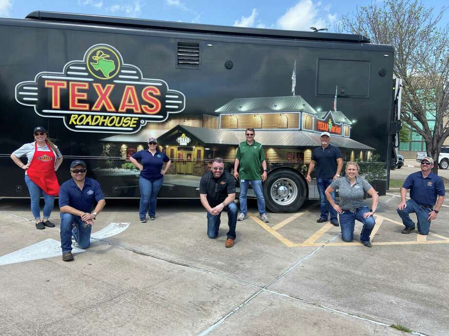 On Tuesday, March 24, a crew from Texas Roadhouse serves approximately 2,500 meals to Mayde Creek High School students and families. The restaurant company plans to serve at 30 locations during the coronavirus outbreak. Katy was the first stop. Photo: Courtesy Of Texas Roadhouse