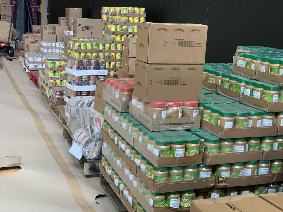 Schenectady County has launched an emergency response coalition, donation fund and hotline designed to assist residents who can't safely go out and get groceries or other basic supplies during the coronavirus pandemic. Above, a picture of the distribution center, set up at the new Boys and Girls Clubhouse in Schenectady, N.Y.