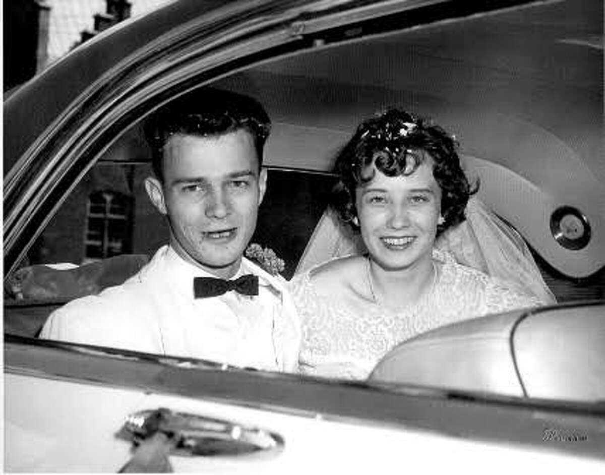 Lauren and Bob Barber have been married for nearly 62 years. They are pictured here on their wedding day.