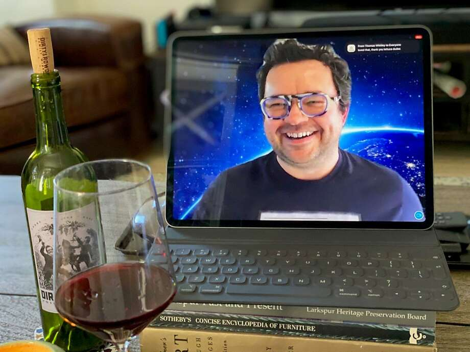 Hardy Wallace, of Dirty & Rowdy Family Wines, held his first virtual tasting on March 21. Photo: Hardy Wallace