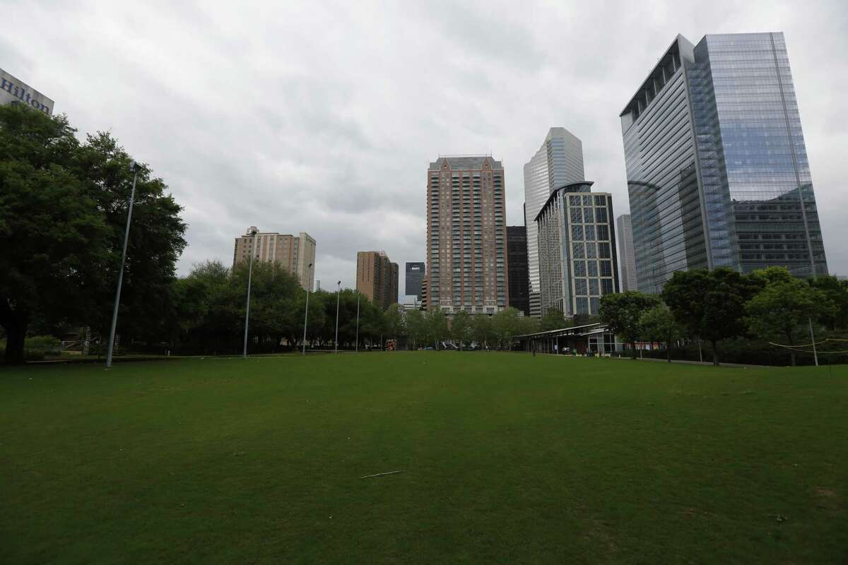Discovery Green was empty due to the coronavirus Tuesday, March 24, 2020, in Houston.