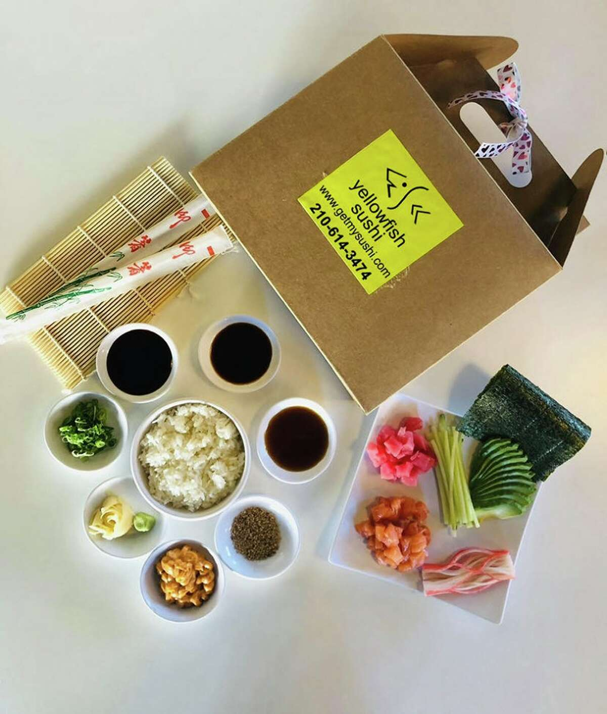 Yellowfish Sushi has a savory DIY kit for a meal you can make while you are supposed to stay at home during the coronavirus pandemic.