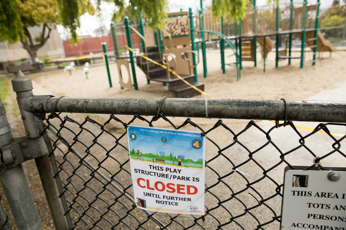 A playground is closed during the coronavirus shelter-in-place order in Berkeley, Calif., on March 25, 2020.
