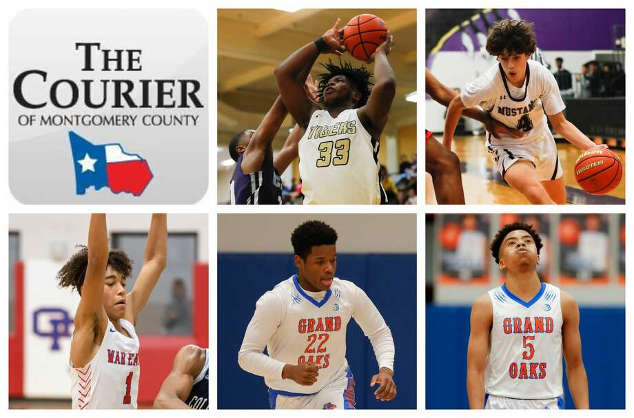 Conroe's Ka'Mari Wetherspoon, Magnolia West's Jacob Homer, Oak Ridge's Ian Egele, and Grand Oaks' Ian Boyambo and Chamberlain Newman are The Courier's nominees for Newcomer of the Year. Photo: Staff Photos