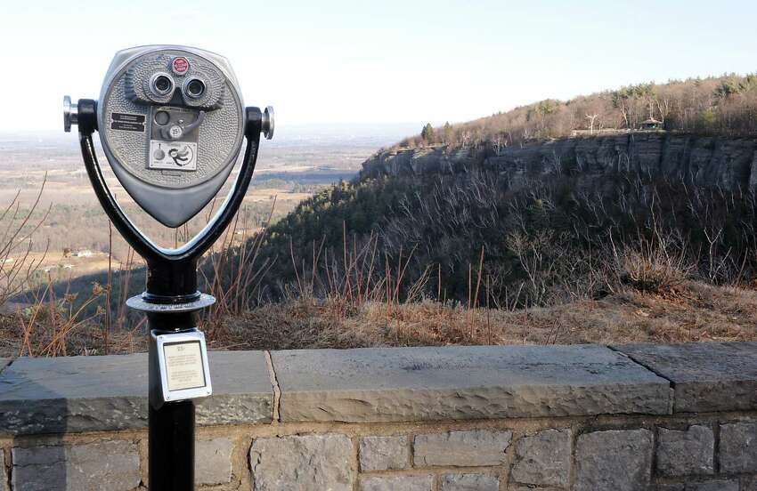 View at cliff edge overlook in Thacher Park on Tuesday, Dec. 30, 2014 in New Scotland, N.Y. There are proposed plans of development at Thacher Park including ropes course, mountain biking trail, and, eventually, rock climbing. (Lori Van Buren / Times Union)