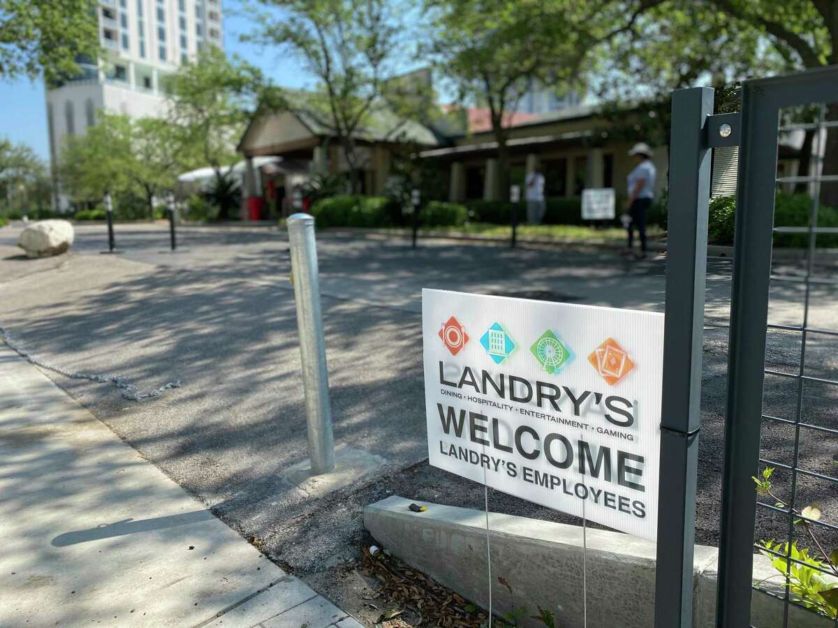 Landry's was handing out free meals to employees from the former Willie G's restaurant on Post Oak Boulevard on Wednesday, March 25, 2020.