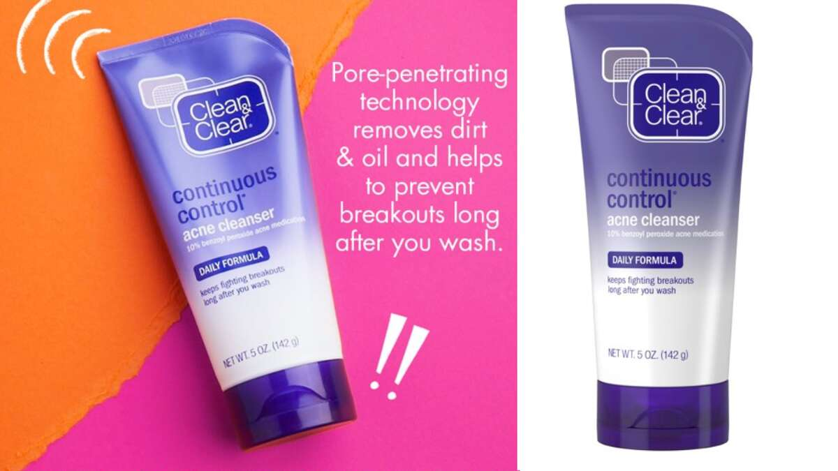 Clean & Clear Continuous Control Daily Acne Face Wash, $4.97