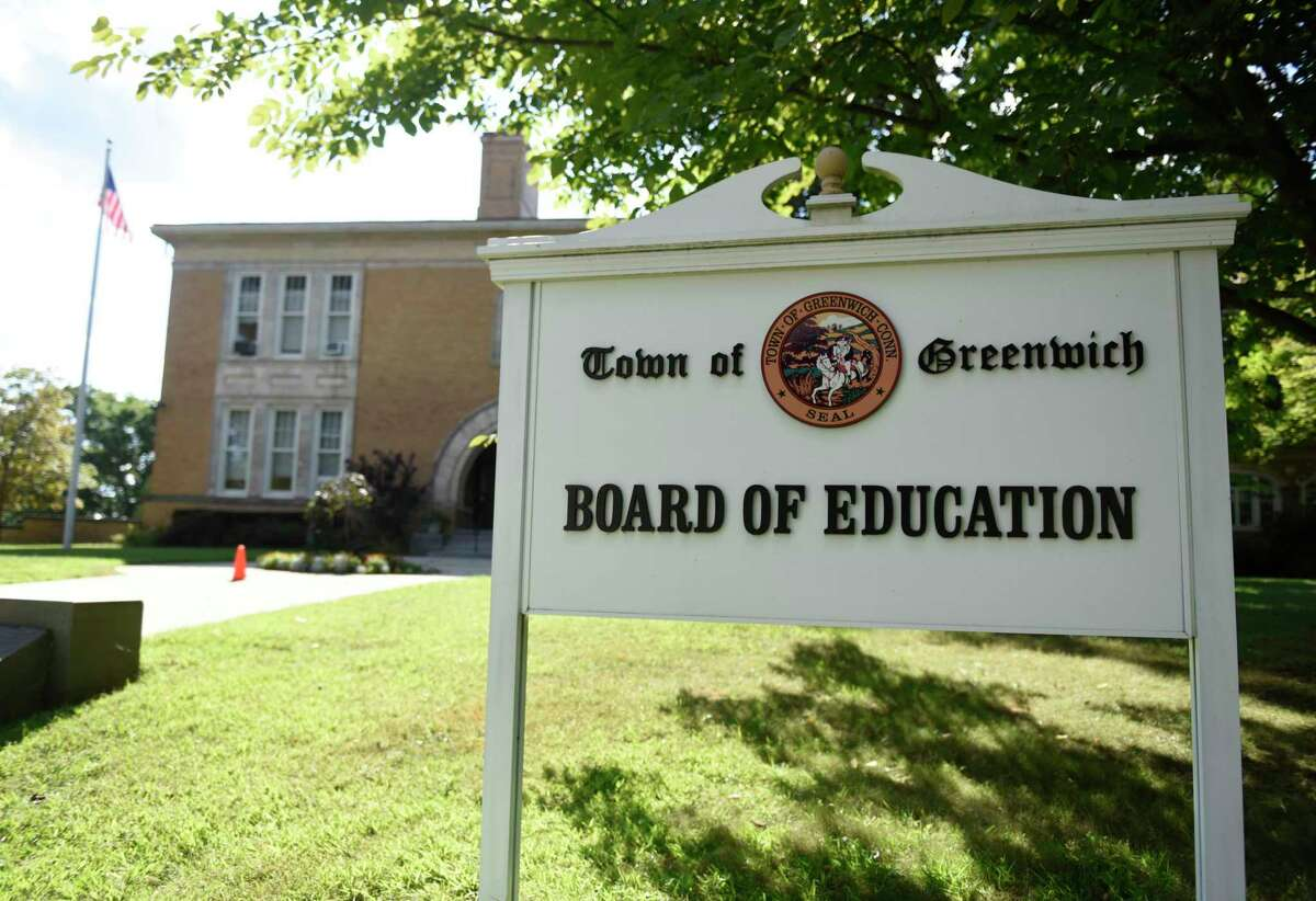 The Town of Greenwich Board of Education building in Greenwich, Conn., photographed on Tuesday, Sept. 4, 2018.