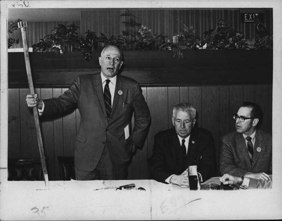Albany, New York Mayor Erastus Corning speaking in 1970 (Bud Hewig/Times Union Archive)