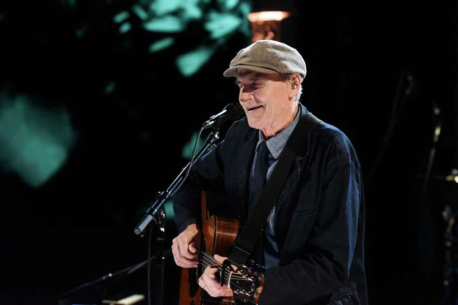 NEW YORK - MARCH 2: The Late Show with Stephen Colbert and musical guest James Taylor during Monday's March 2, 2020 show. (Photo by Scott Kowalchyk/CBS via Getty Images) Photo: CBS Photo Archive / 2020 CBS Photo Archive
