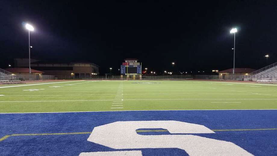 The UISD athletic department turned on the lights at the SAC on Wednesday as a symbol of support to the district's athletes. Photo: Courtesy Of UISD