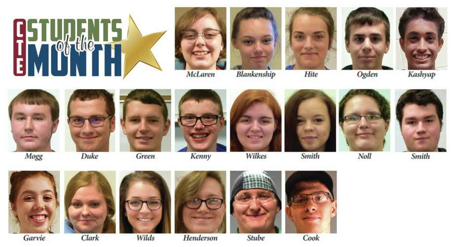 The Clare-Gladwin Regional Education Service District's Career & Technical Education program recently announced its Students of the Month for February. (Photo provided)