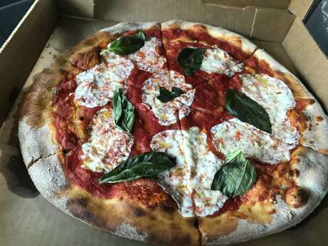 Margherita pizza from Weights and Measures in Midtown