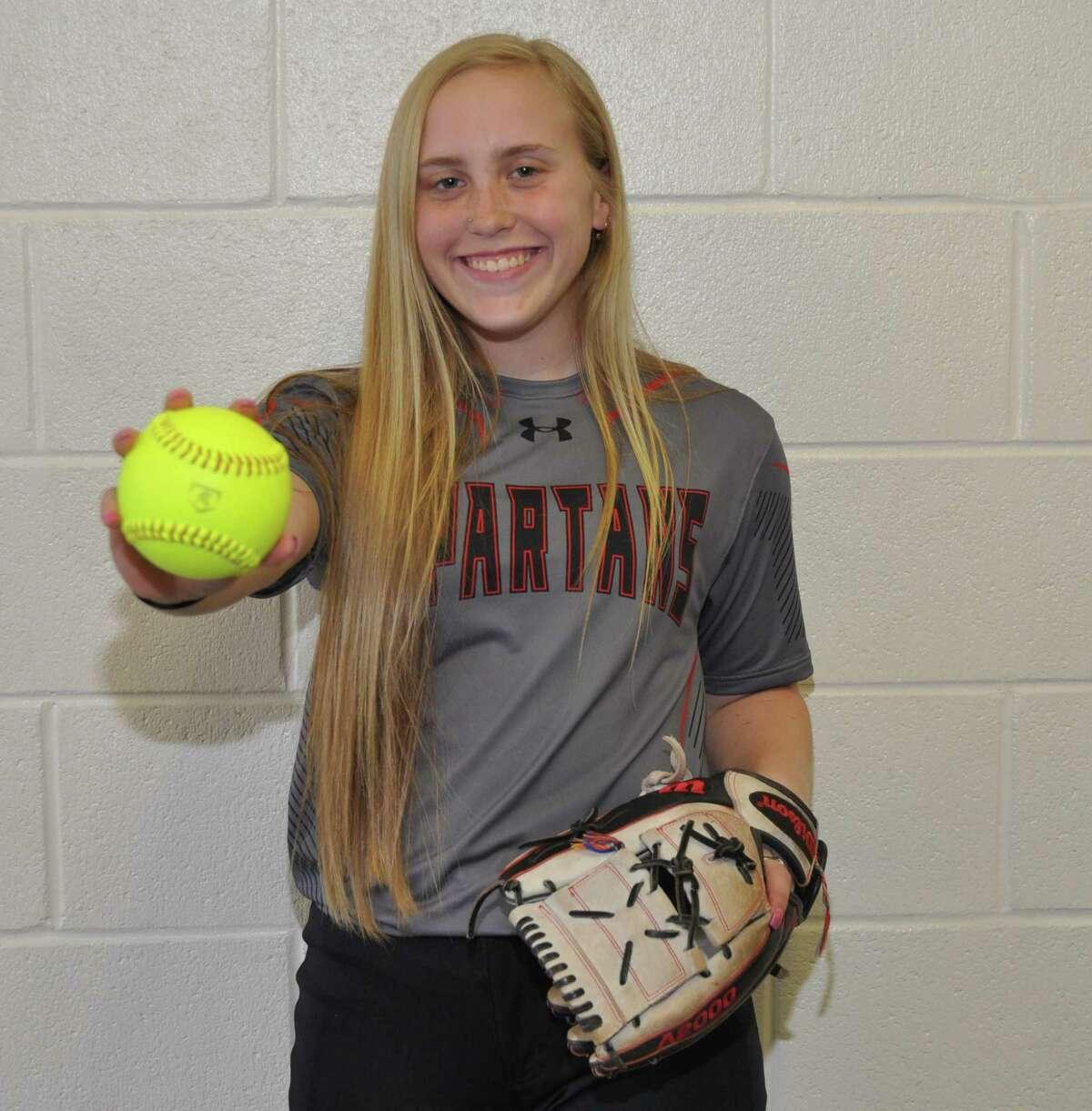 Porter senior softball centerfielder Stella Shaw.