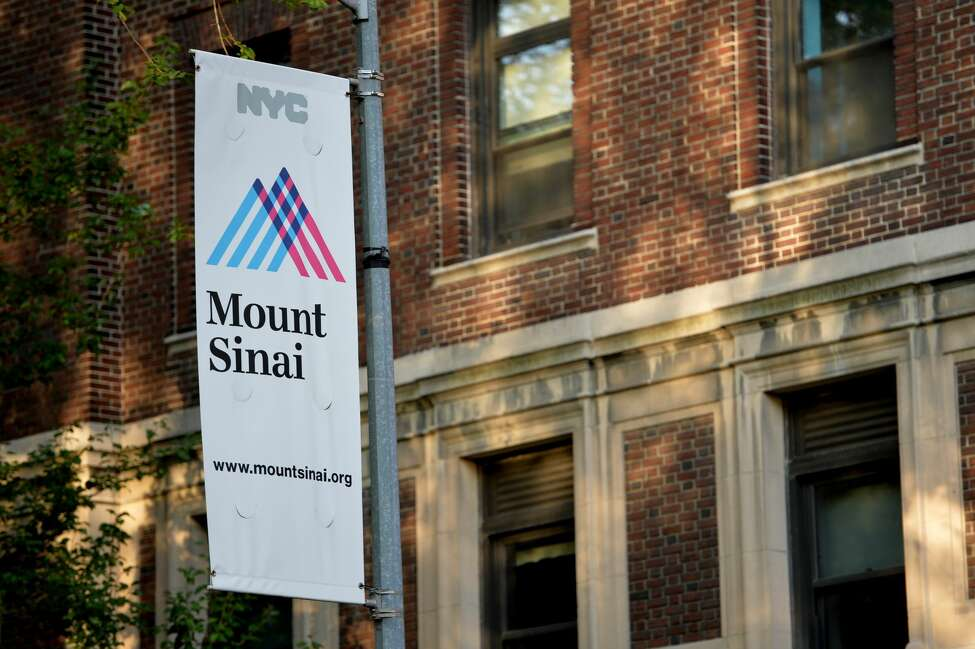 A sign outside Mount Sinai Hospital in New York is shown in this file photo.