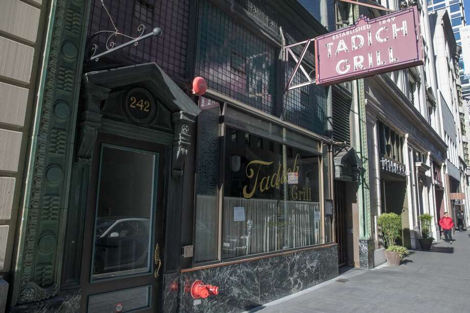 Tadich Grill was closed due to the shelter-in-place order to slow the spread of the the coronavirus, Covid-19, in San Francisco, Calif. on March 26, 2020. Photo: Douglas Zimmerman/SFGate / SFGate