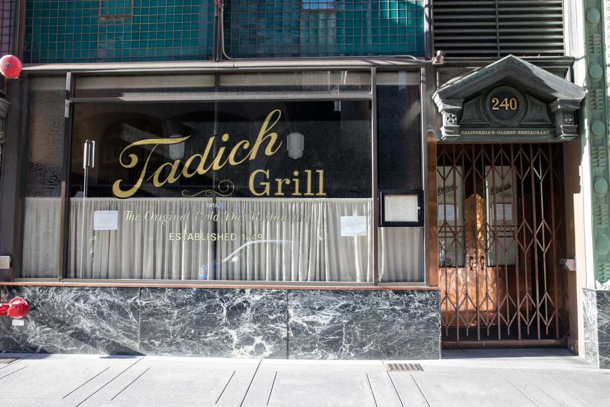 Tadich Grill was closed due to the shelter-in-place order to slow the spread of the the coronavirus, Covid-19, in San Francisco, Calif. on March 26, 2020.