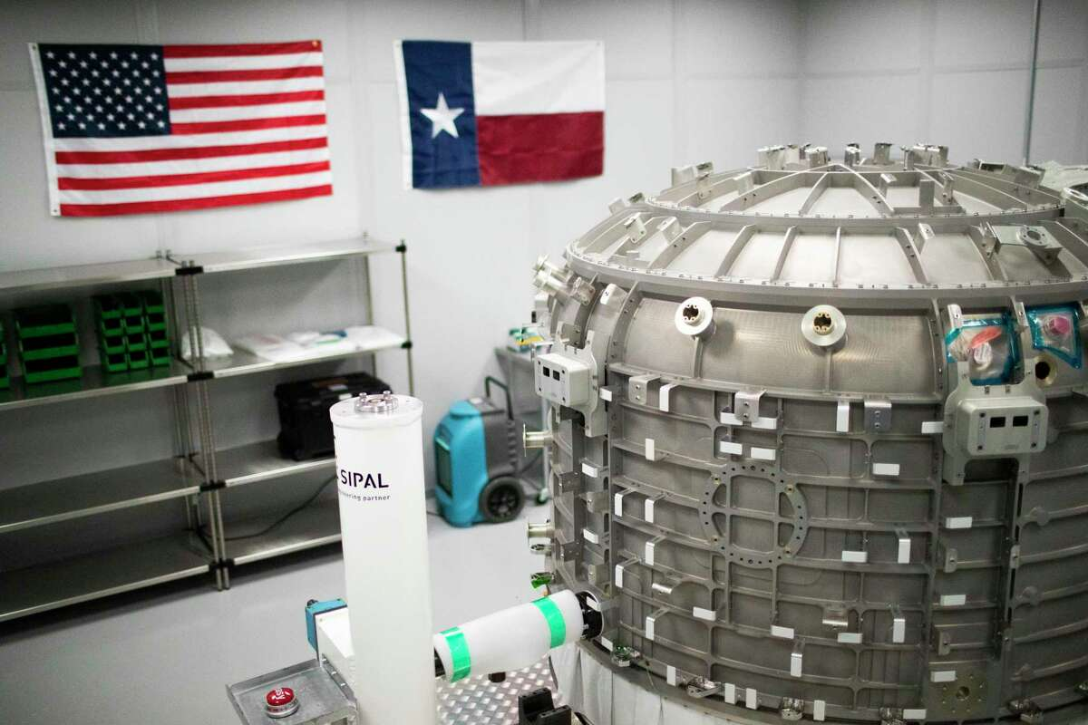 Exterior view of the Nanoracks Bishop Airlock on Wednesday, Aug. 14, 2019, in Webster.